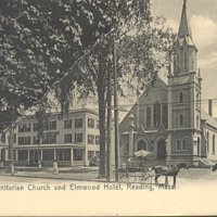 Unitarian Church and Elmwood Hotel, Reading, Mass.