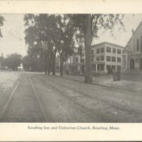 Reading Inn and Unitarian Church, Reading, Mass.