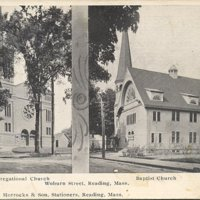 Congregational Church [and] Baptist Church, Reading, Mass.