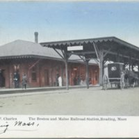 The Boston and Maine railroad station, Reading, Mass.