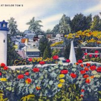 Navy yard  rock garden and miniature city at Sailor Tom's