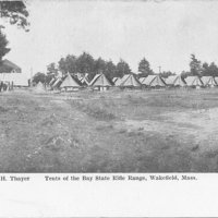 Tents of the Bay State Rifle Range  Wakefield,  Mass.