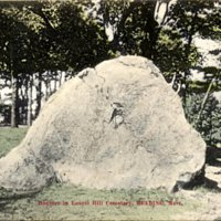 Boulder in Laurel Hill Cemetery, Reading, Mass.