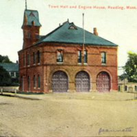 Town Hall and engine house, Reading, Mass.