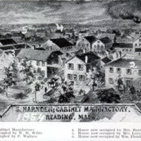 1854 sketch of S. Harnden's mill yard