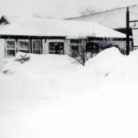 Reading Chronicle office after 1978 blizzard