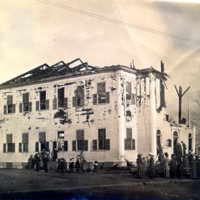 Devastating church fire in 1911