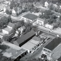 Aerial view of west side of lower Main Street