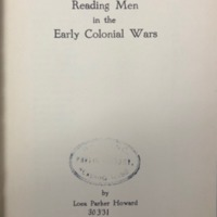 Reading men in the early colonial wars