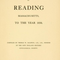 Vital records of Reading, Massachusetts, to year 1850