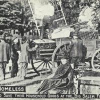 Salem Fire of 1914, Homeless Salvaging Household Goods