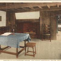 Parlor in 17th Century House