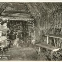 Interior of English Wigwam at Pioneers' Village