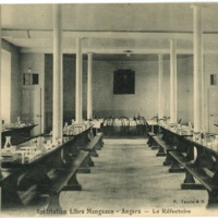 Postcard: Angers - Institution libre Mongazon - La Refectoire