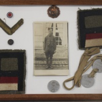 Framed WWI Ephemera