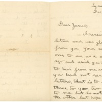 Letter from E. Lindon Butler to James Kieran