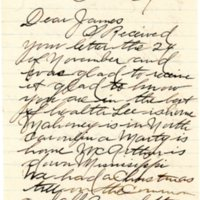 Letter from Walter to James Kieran, 12-25-1918