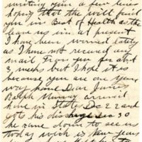 Letter from Alice Kieran to James Kieran, 01-01-1919