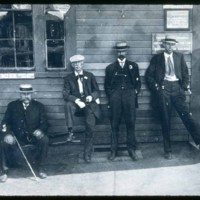Saugus Center Depot, Left Ben Robinson, Chesley, Roland Mansfield (?)