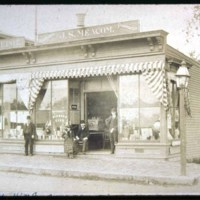 Saugus Center, corner Central & Jasper St, Meacom's Store, oldest drug store in town