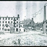 Saugus Center, Pranker Mills, Central Street & Elm Street, Drawing