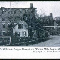 Saugus Center, Pranker's Mills, Central & Elm Street but on Central Street, 1909, etc.
