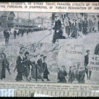 Saugus High School students on strike, 1910-5