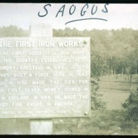 Saugus River Iron Works sign