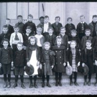 School children at school in old Town Hall, Central Street, Saugus Center