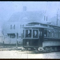 Street railroad car going to Cliftondale