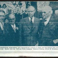 Townspeople and Senator Robert Taft