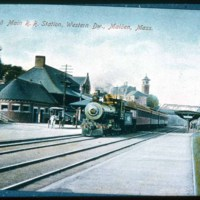 [Boston & Main R. R. Station, Western Dw., Malden, Mass.]
