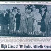 Saugus High School class of 1904, 50th reunion