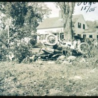 Automobile accident, East of Route 1, Broadway Toll House, 1905