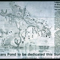 1976, map of pond