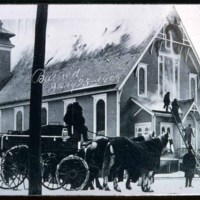 Adams Avenue, Catholic Church Burning, January 25, 1909