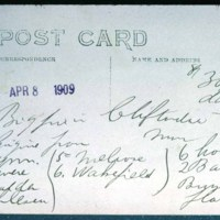 Air mail post card