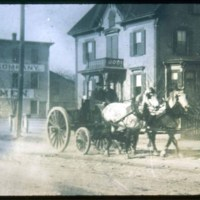 Around 1892, Saugus Center, Saugus Street & Beacon St, Roland & Daniel Mansfield, M.B. Faxon Seed Co.