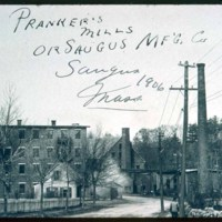 As they looked 1906, Pranker Mills, Central & Elm Street