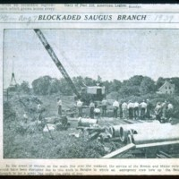 Blockaded Saugus Branch, Aug 7, 1939