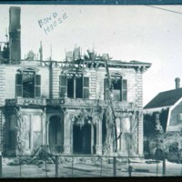 Bond Home,Cliftondale Square, burned