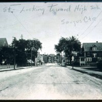 Central Street, view towards high school, 1906