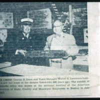 Chief Drew & Walter Lawrence, Town Managers