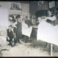 Old barber shop, Cliftondale Square, 1904