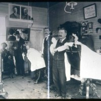 Barber shop, Cliftondale Square, 1904
