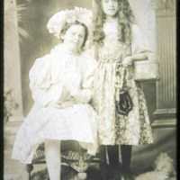 Cliftondale, girl on left is Addie Carter (Cartis?), girl on right is Elsie Hatch (Wardsworth), Granddaughter of Anthony Hatch, Sr.