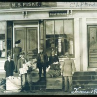 Cliftondale, Post Office, Fiske Store & Post Office, Jackson Street 1908