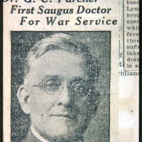 Dr. George Parcher, Saugus Center, 1917