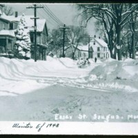 Essex Street, Cliftondale, winter of 1948