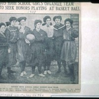 First Woman's Basketball team played in second floor of Hose House, 1907, Lincoln Avenue, Cliftondale